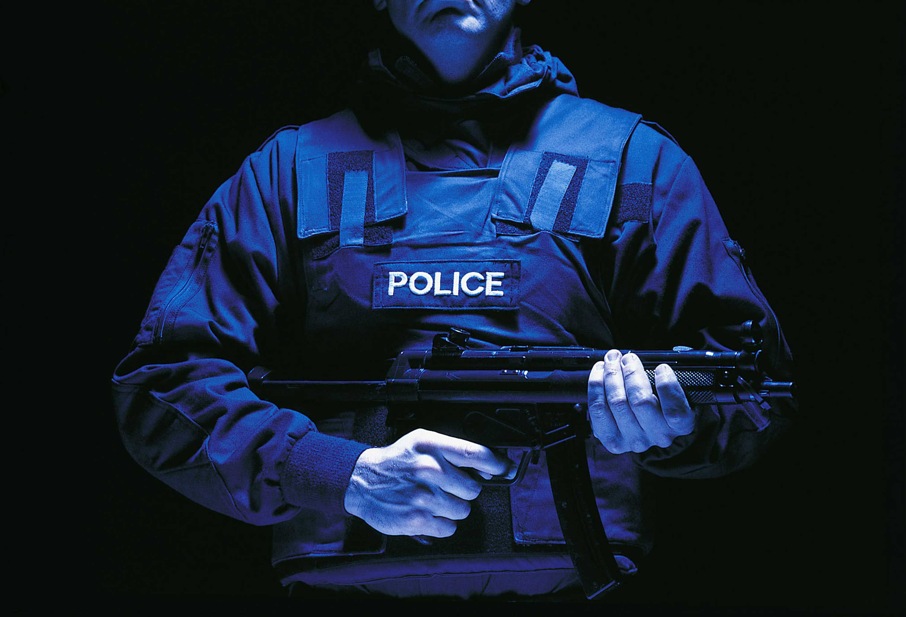 Law Enforcement Officer Wearing Kevlar®