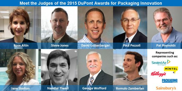 Group photo of judges for the 2015 DuPont Awards for Packaging Innovation