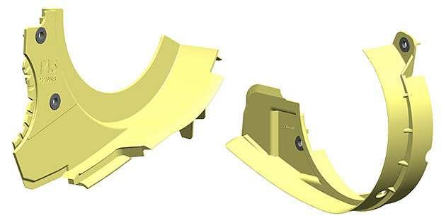 集合了挡油和密封功能的挡油板,采用乐天堂体育投注™ Hytrel® 热塑性聚酯弹性体制成