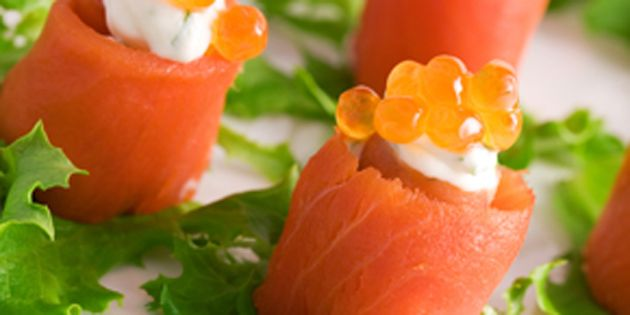 Photo of salmon rolls
