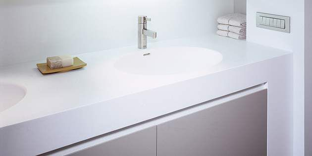 Corian® bathroom basins provide a seamless appearance and elegance, no matter th