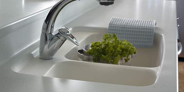 Corian® sinks combine functionality and beauty.