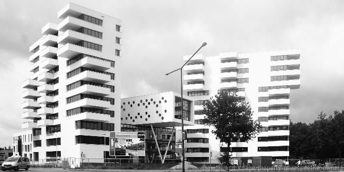 Spectacular building project in Breda with Corian® as exterior cladding