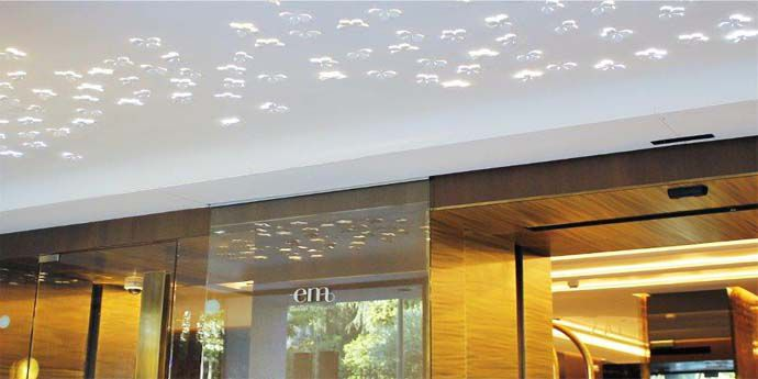 recently reopened barcel emperatriz hotel in madrid welcomes its guests with dupont corian