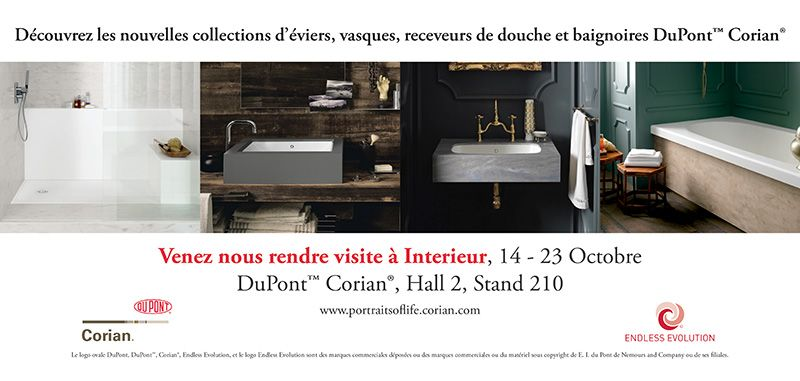 nouveaut s et v nements corian dupont france. Black Bedroom Furniture Sets. Home Design Ideas