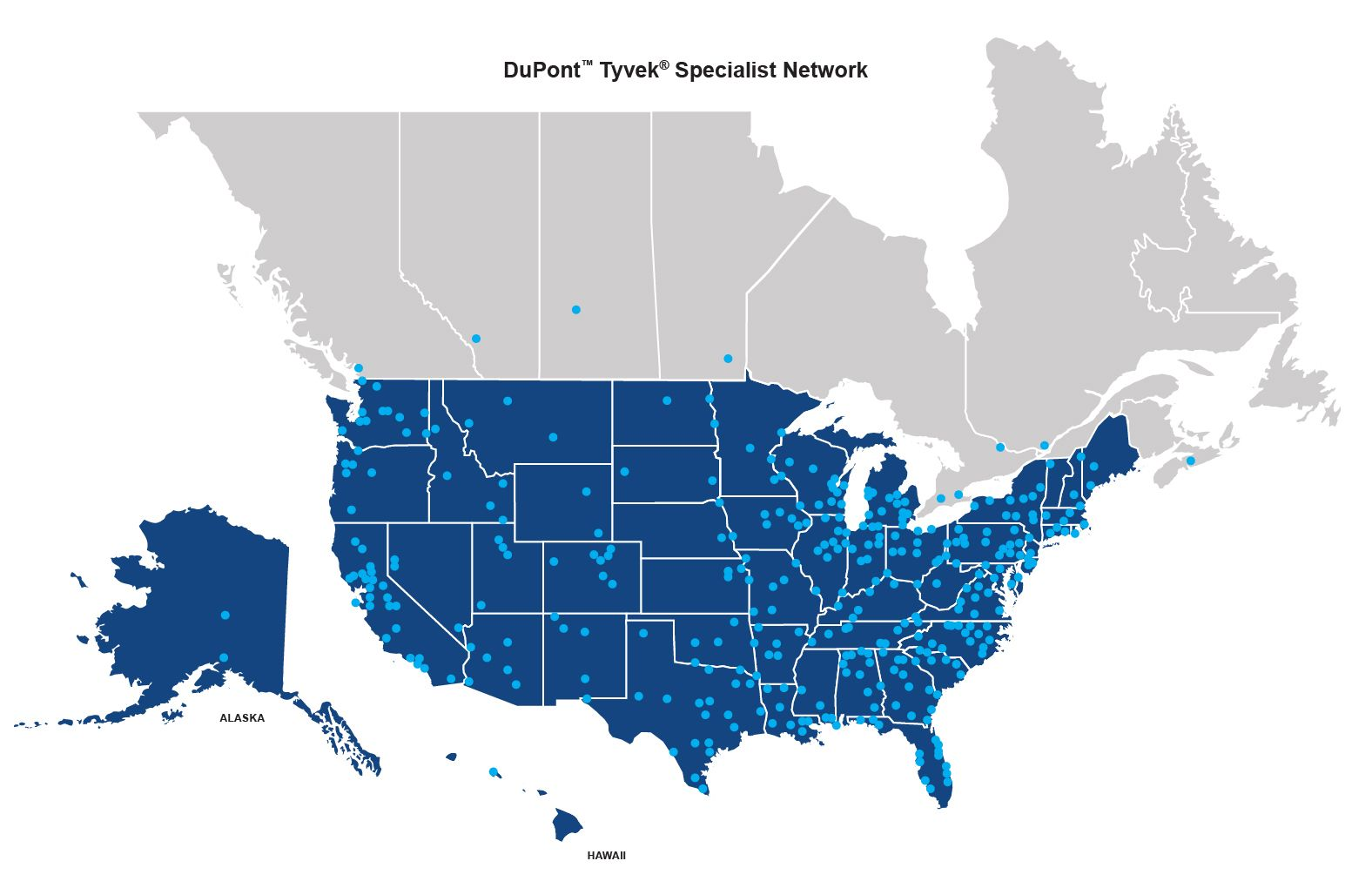 DuPont ™ Tyvek ® Specialist Map