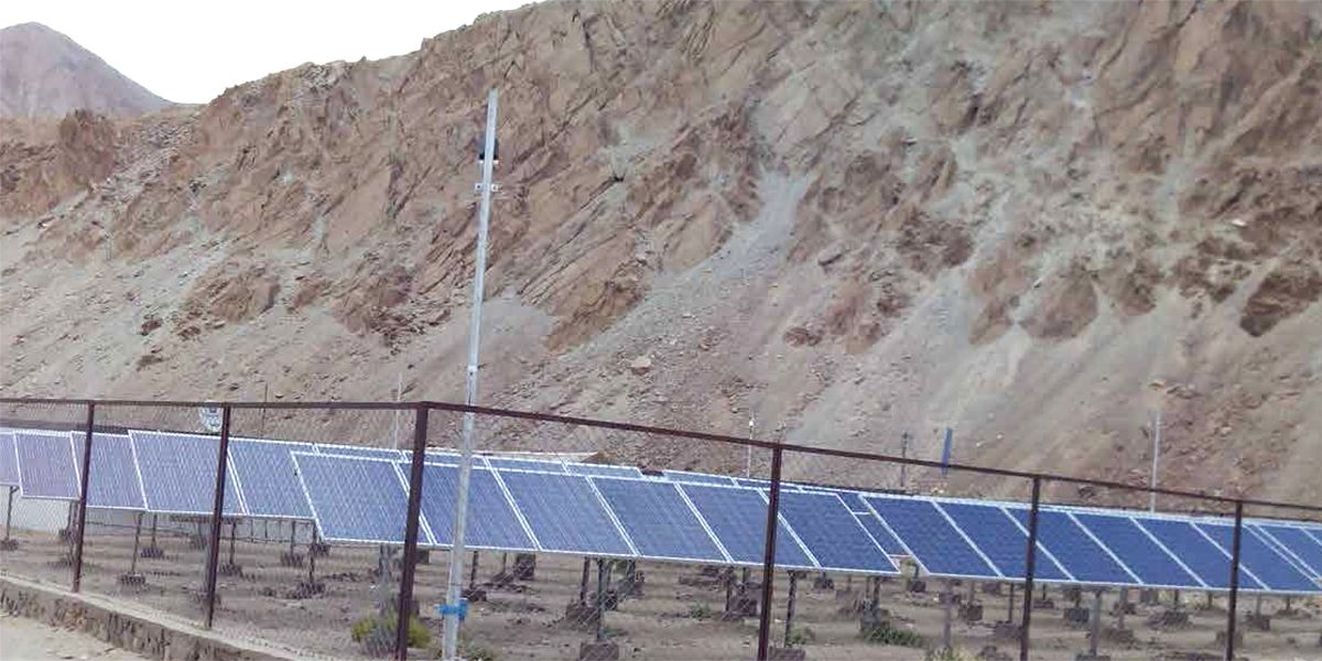 Advanced Photovoltaic Materials to Enable Electrification of Remote Corners of Ladakh, India