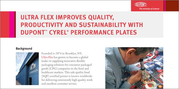 Ultra Flex Improves Quality, Productivity & Sustainability with Cyrel® Performance Plates