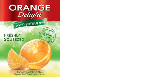 Campione di stampa DuPont™ Cyrel® DFUV - Orange Delight