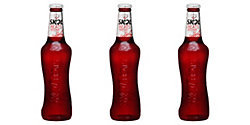 Red Glass beer bottles