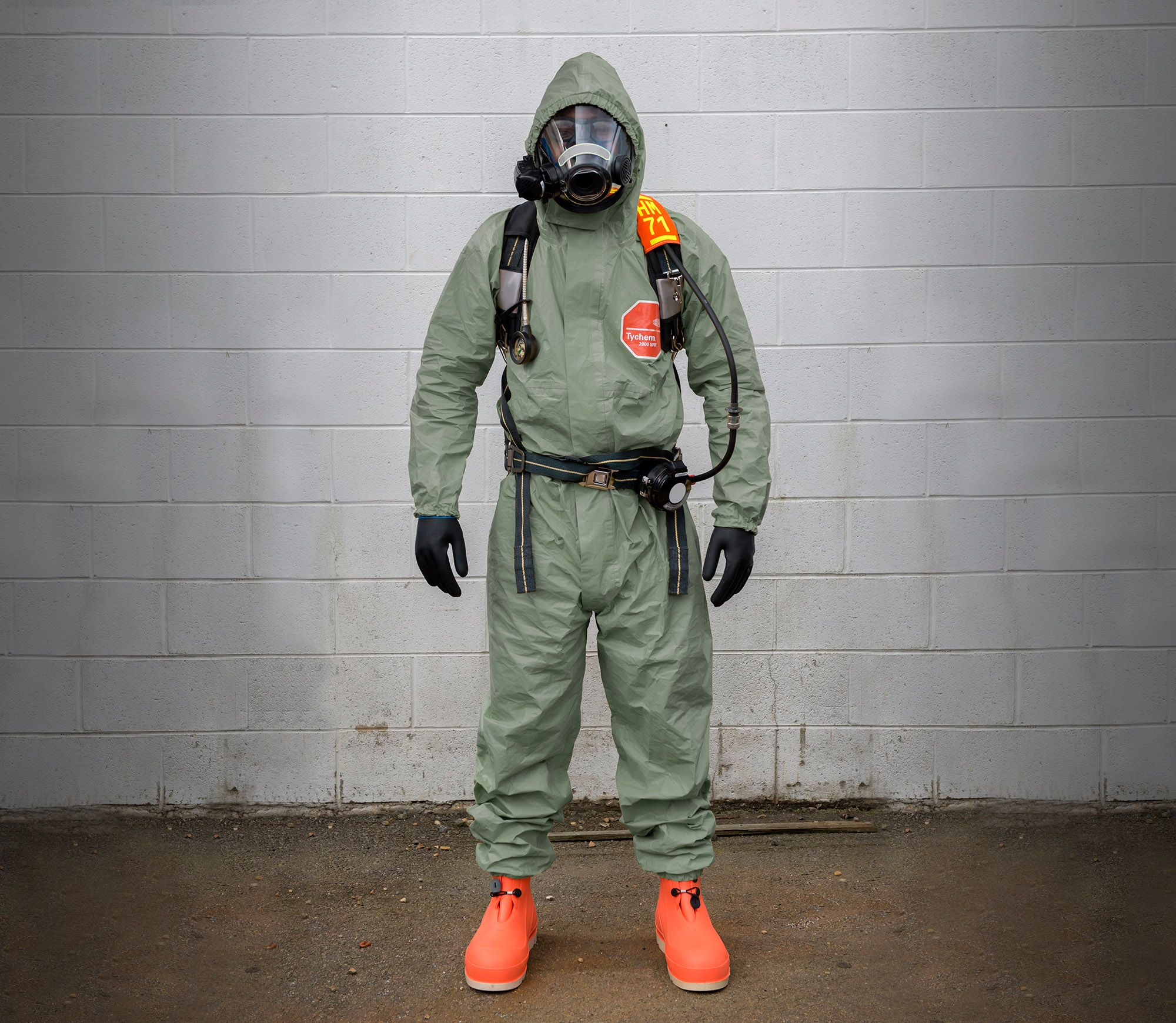 Man in Tychem® 2000 SFR Suit