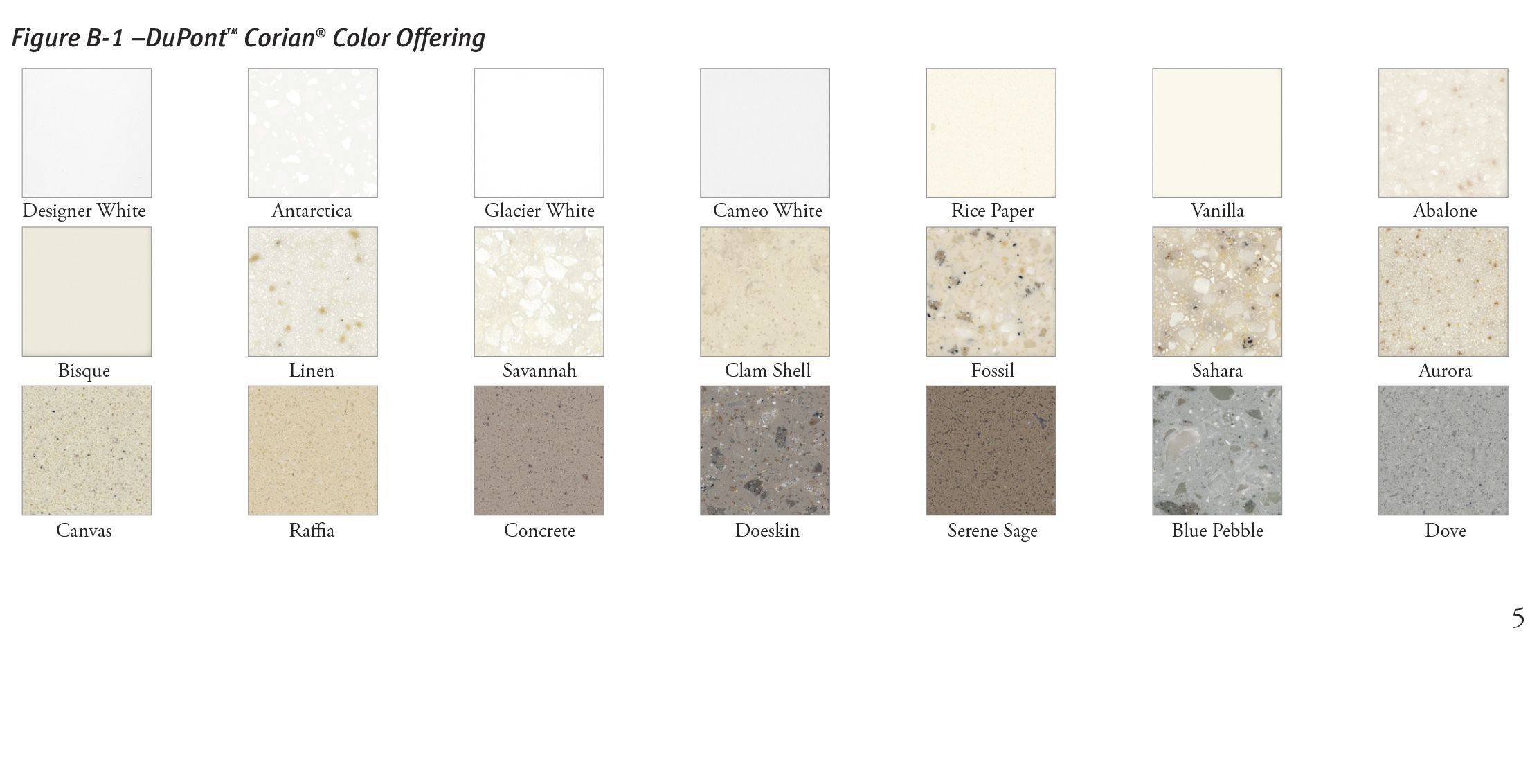 Corian® Exterior Cladding Color Offering