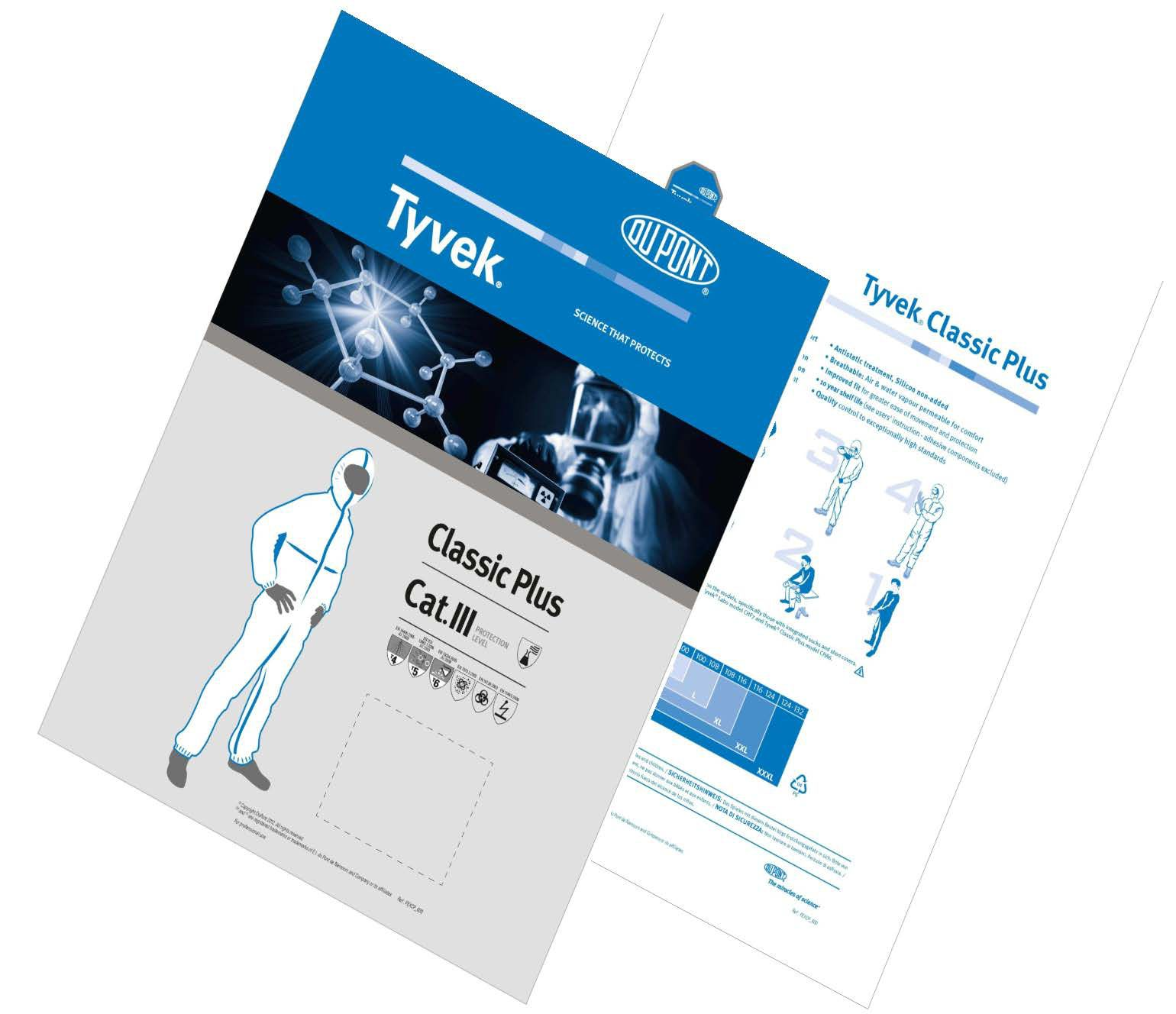 Tyvek® Classic Plus combines performance of a Type 4 with the comfort of a Tyvek