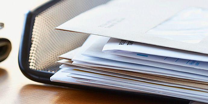 Tyvek® 制成的各種用于商業用途的信封