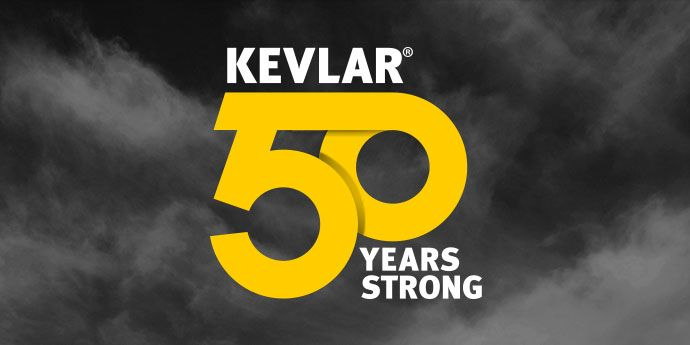 Kevlar® 50th Anniversary Logo on Clouds