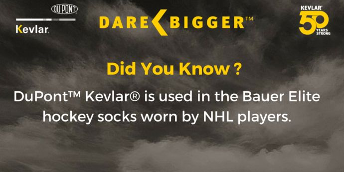 Kevlar® Did You know: Bauer Hockey Socks