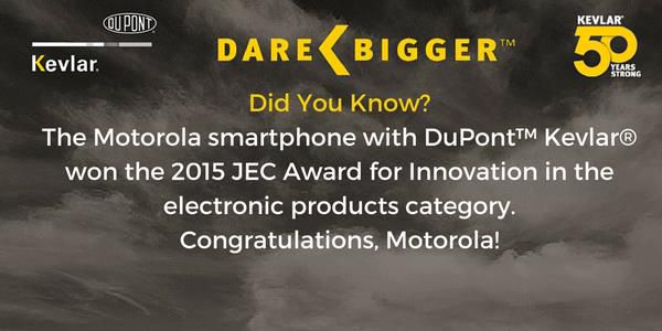 Kevlar® and Motorola 2015 JEC Award for Innovation