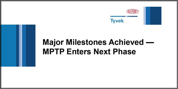 MPTP Enters Next Phase - October 2015
