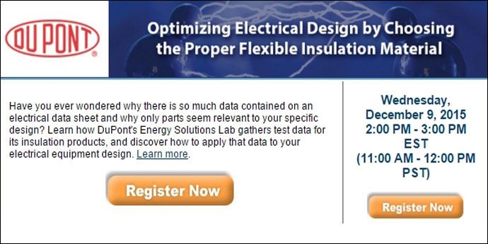 Webinar: Optimizing Electrical Design by Choosing the Proper Flexible Insulation Material