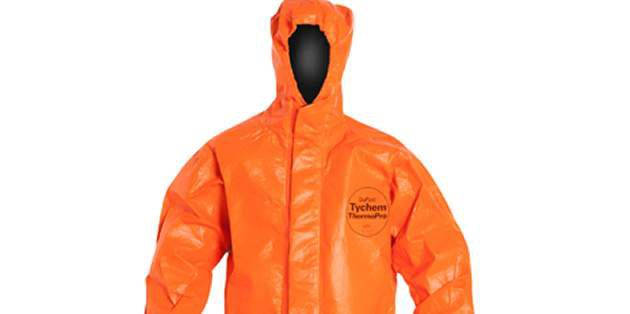 杜邦™ Tychem® ThermoPro 阻燃防化服消防款 - 單層面料,三重防護