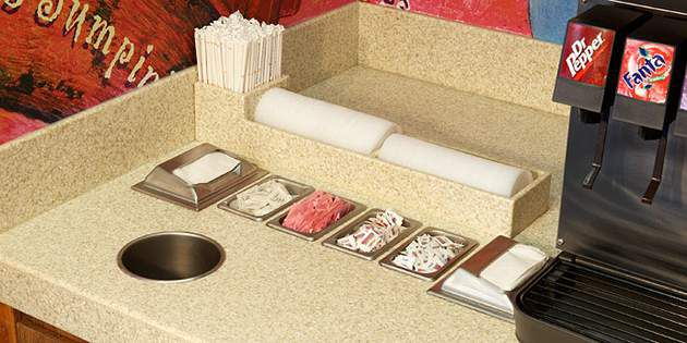 Popeye's Low-Maintenance Countertop Design