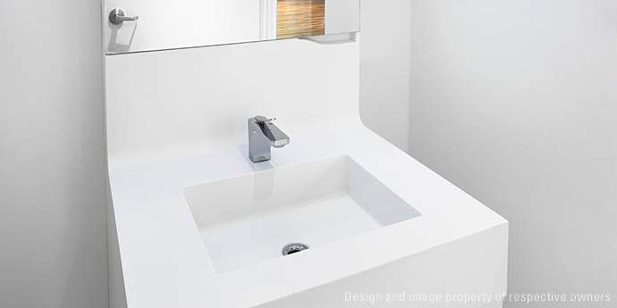Merveilleux Corian® Bathroom At The DuPont™ Corian® Design Studio