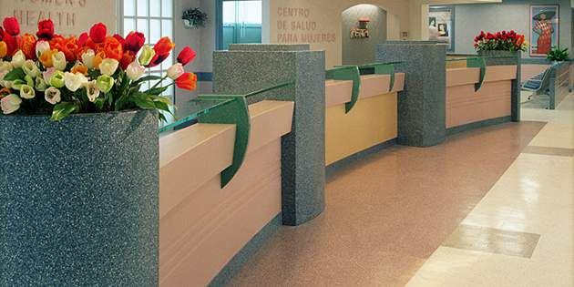 Hospital Interior Design using Corian® Interior Wall Surfacing