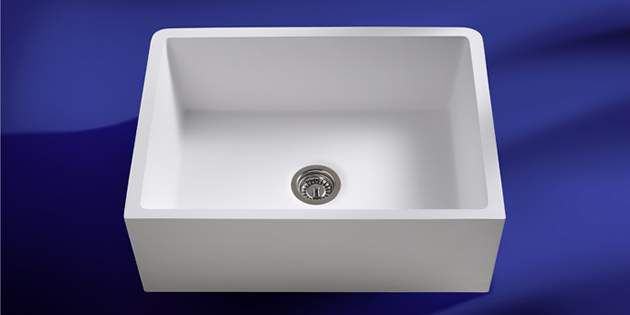 Kitchen sinks corian dupont usa for Corian farm sink price