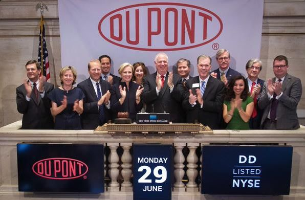 DuPont rings closing bell_29Jun15