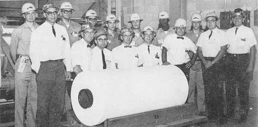 First roll of Tyvek® produced on the commercial line on April 5, 1967 at the Spruance plant, Richmond VA