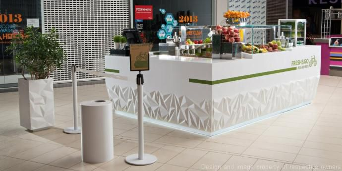 Fresh go eco bar bar counter design dupont corian for Meuble comptoir bar professionnel