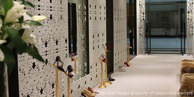 Manolo Blahnik store, Moscow, Russia, project and photo by Data Nature Associate