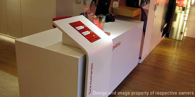 Vodafone stores, Istanbul, Turkey; photo DuPont™ Corian® solid surface