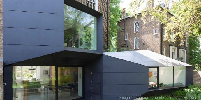 Private residence, London – Exterior Wall Panel of Corian®