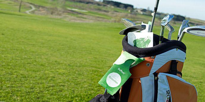 杜邦™ Tyvek® 特卫强® 制作的高尔夫用具的吊牌