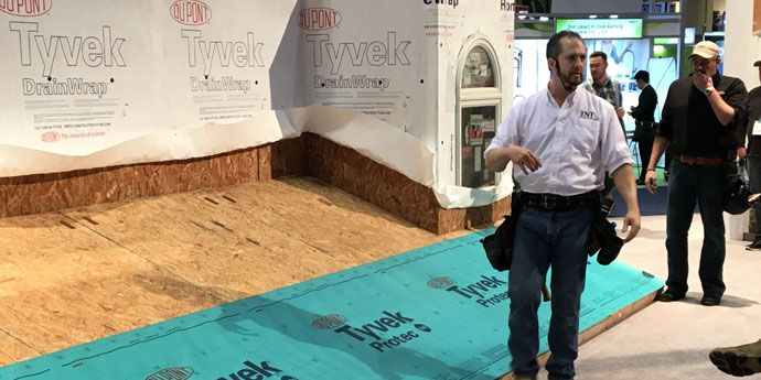 Tyvek® Protec™ synthetic underlayments at IRE 2017