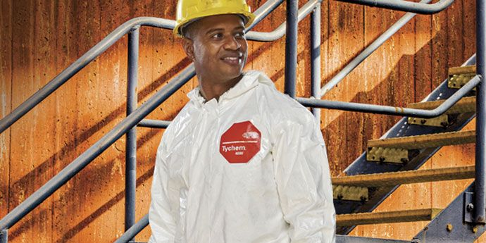 DuPont™ Tychem® SL helps provide chemical and abrasion protection in industrial,