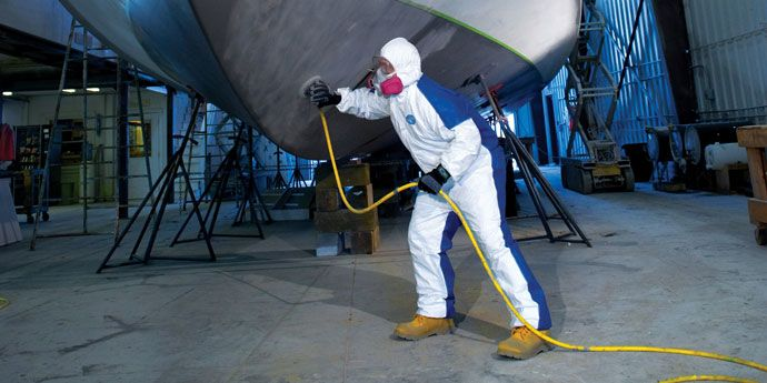Tyvek® Dual coveralls feature Tyvek® protection on the front with a large breath