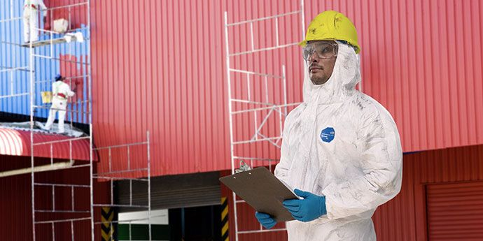 DuPont™ Tyvek® coveralls provide breathable, inherent barrier protection against