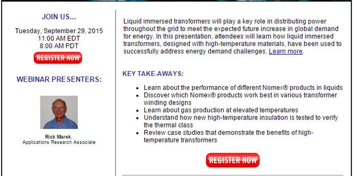 Webinar: High-Temperature Material Applications for Liquid Immersed Transformers