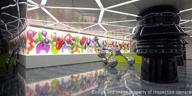 Subway station interiors, Naples, Italy, project by Karim Rashid; photo Peppe Av