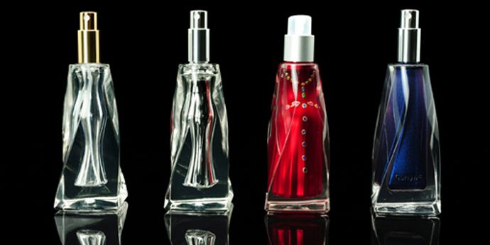 Surlyn® 3D Containers Using Overmolding Technology for Cosmetics Packaging (Shown: perfume glass bottles)