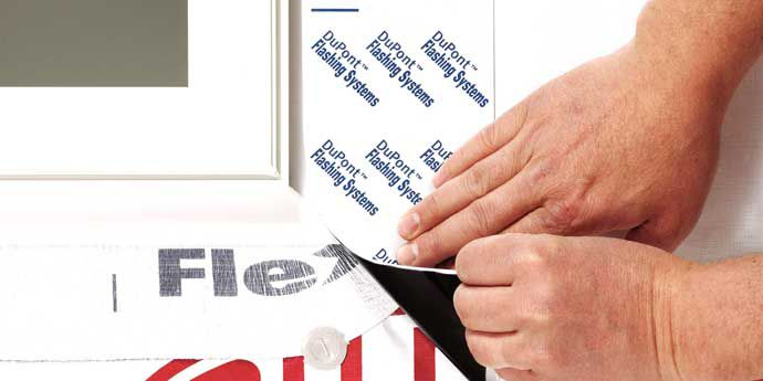 Tyvek® Flashing Tape Help Keep Water Out, Walls Dry
