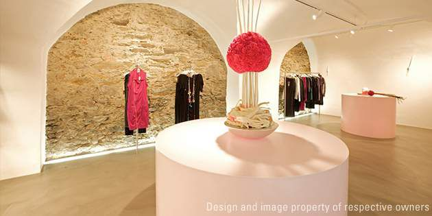 Displays at Pink Fashion Store