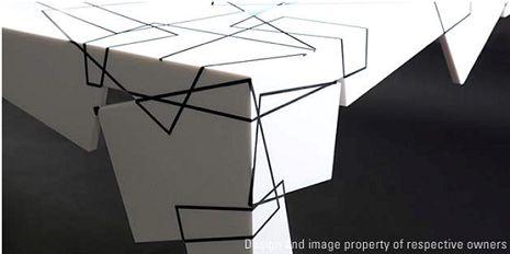 """""""纸桌""""独特家具设计"""
