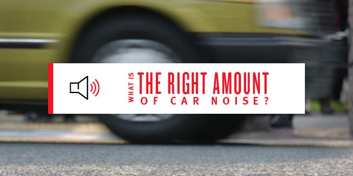 The Right Amount of Car Noise