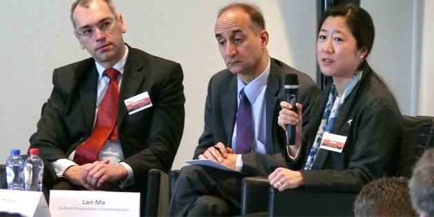 Dr. Lan Ma, DuPont global marketing director, was a panellist at the European Photovoltaic Industry Association (EPIA) 10th Market Workshop