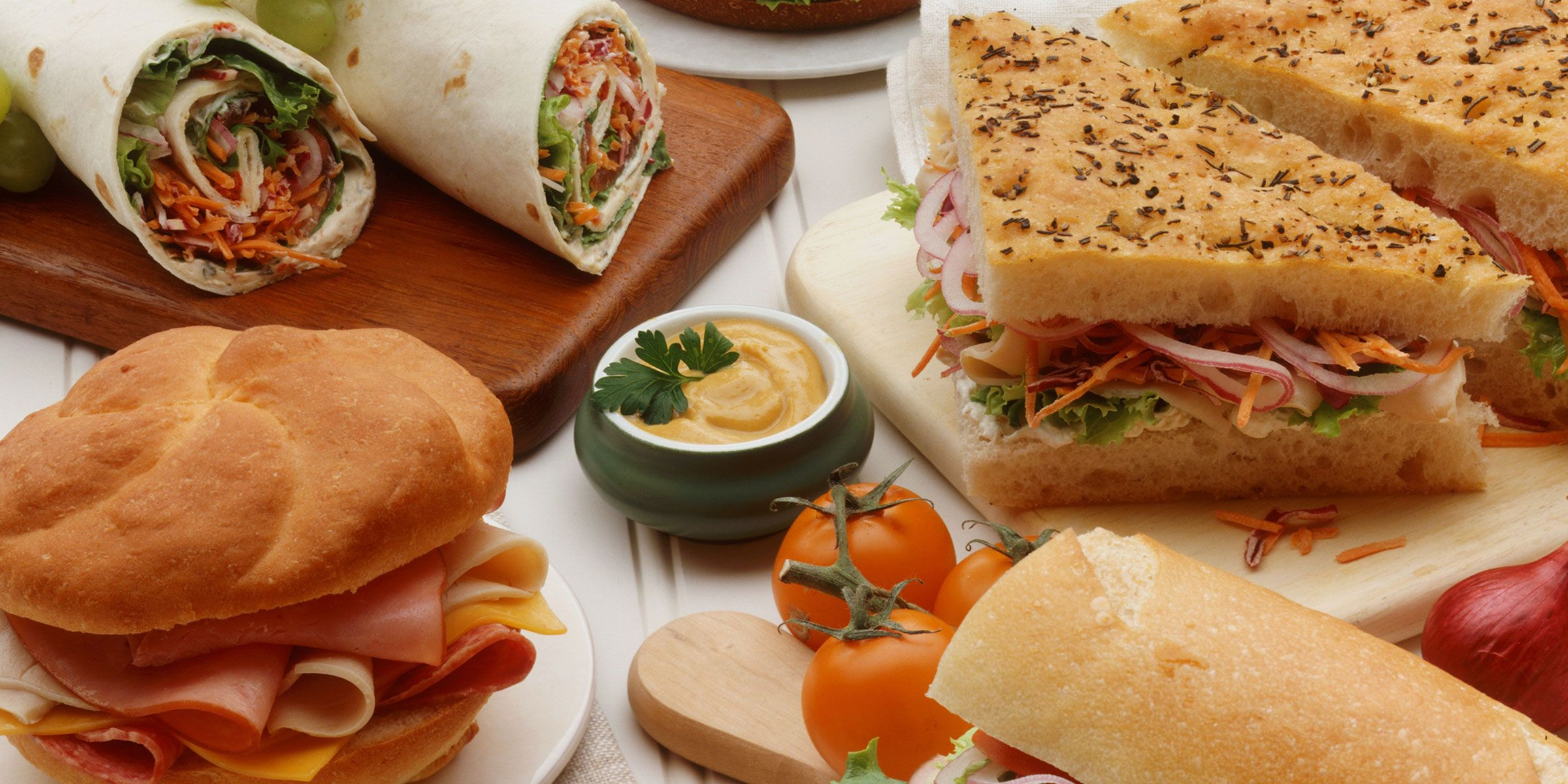 Photo of a variety of deli sandwiches