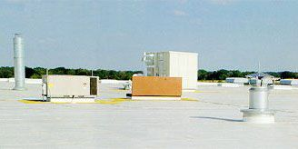 International Paper Roofing with Thermoplastic Membrane