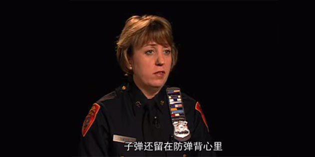 因穿著 Kevlar® 凱芙拉® 纖維制成的防彈衣而中槍生還的警探Marlene Tully女士